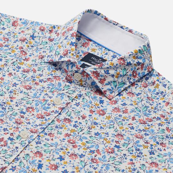 Мужская рубашка Hackett Floral Outline Print White/Multi