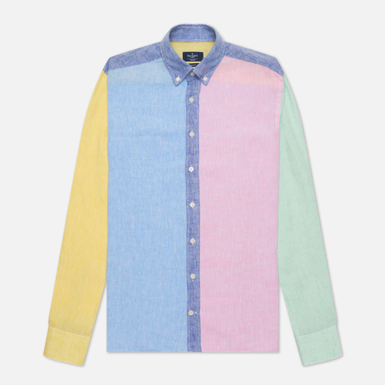 Мужская рубашка Hackett Multi Panel Linen Multi
