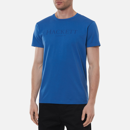 Мужская футболка Hackett London Logo Marine