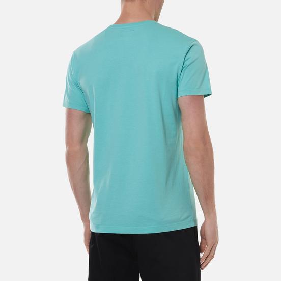 Мужская футболка Hackett London Logo Pool Blue