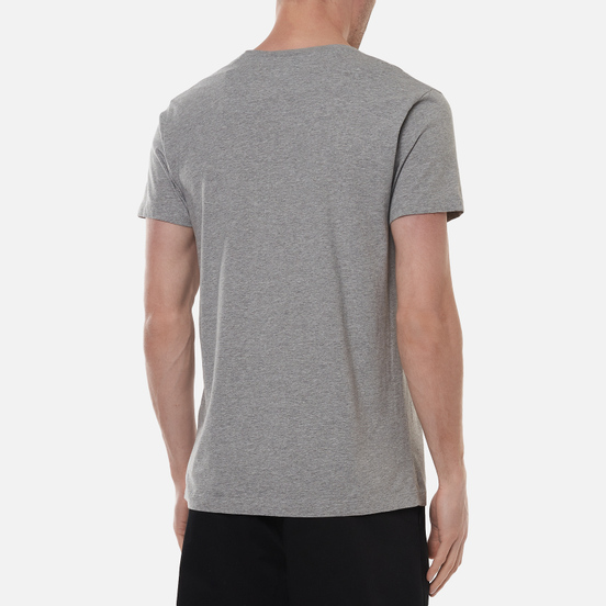 Мужская футболка Hackett London Logo Light Grey Marl