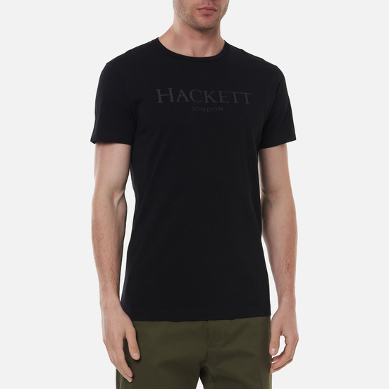 Мужская футболка Hackett London Logo Black