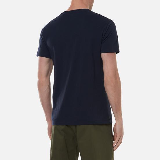 Мужская футболка Hackett Diagonal Logo Print Dark Navy