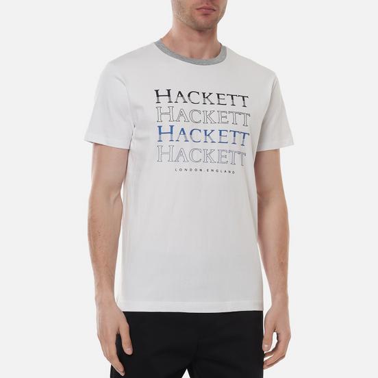 Мужская футболка Hackett Multi Logo Print White