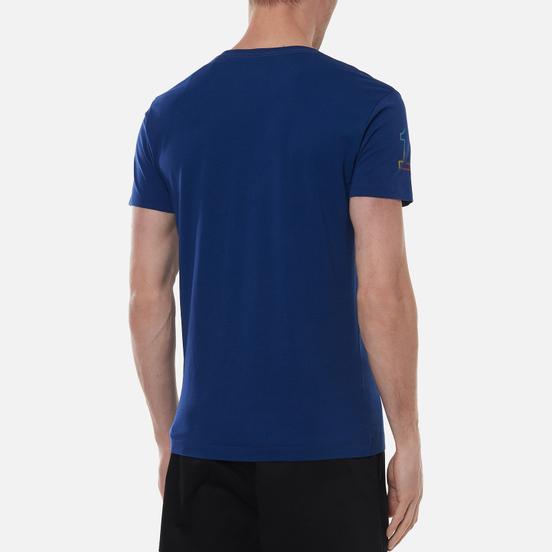 Мужская футболка Hackett London Color Logo Blue Depth
