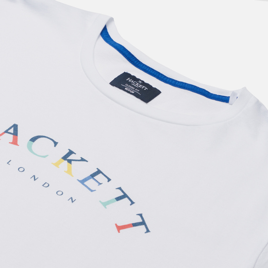 Мужская футболка Hackett London Color Logo White