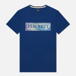 Мужская футболка Hackett Floral Logo Print Blue Depth