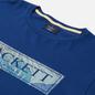 Мужская футболка Hackett Floral Logo Print Blue Depth фото - 1