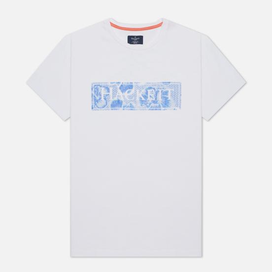 Мужская футболка Hackett Floral Logo Print White