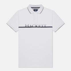 Мужское поло Hackett Graphic Logo White