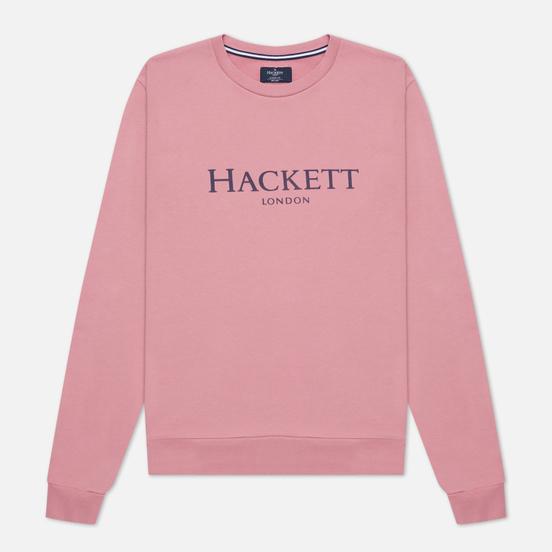 Мужская толстовка Hackett London Logo Crew Neck Washed Rose