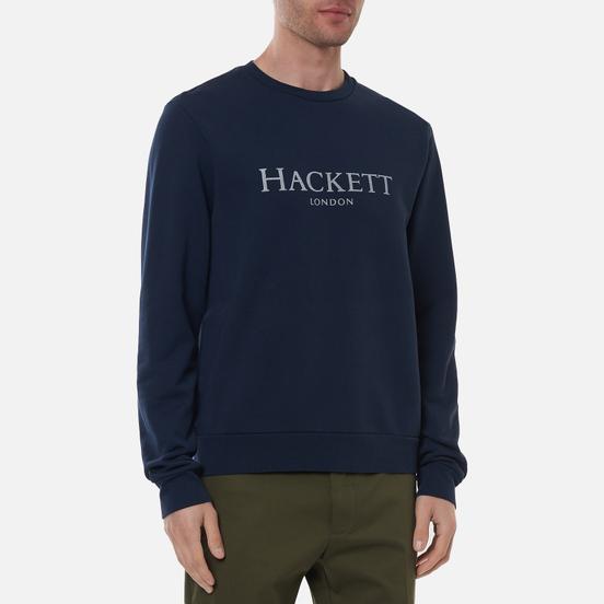 Мужская толстовка Hackett London Logo Crew Neck Dark Navy