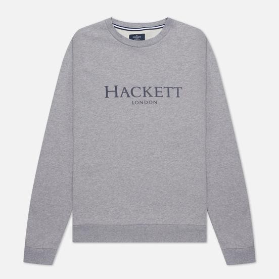 Мужская толстовка Hackett London Logo Crew Neck Light Grey Marl