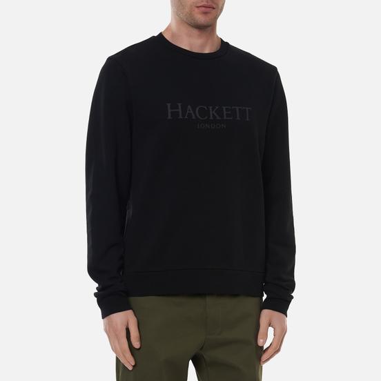 Мужская толстовка Hackett London Logo Crew Neck Black