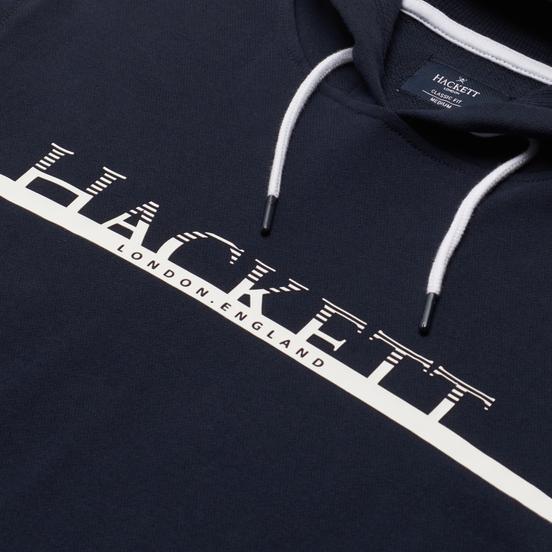 Мужская толстовка Hackett Gradual Logo Print Hoodie Dark Navy