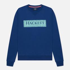 Мужская толстовка Hackett Floral Logo Print Crew Neck Blue Depth