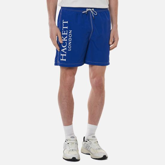 Мужские шорты Hackett Branded Solid Swim Trunks Ocean