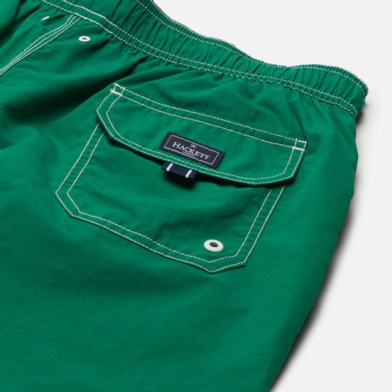 Мужские шорты Hackett Branded Solid Swim Trunks Meadow Green