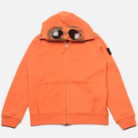 Детская толстовка C.P. Company U16 Full Zip Goggle Hoodie Orange фото- 0