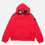 Детская толстовка C.P. Company U16 Full Zip Goggle Hoodie Red фото- 0