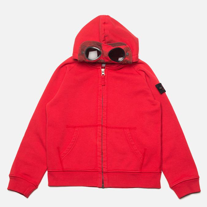 Детская толстовка C.P. Company U16 Full Zip Goggle Hoodie Red