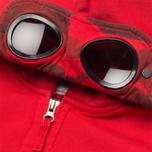 Детская толстовка C.P. Company U16 Full Zip Goggle Hoodie Red фото- 1
