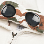 Детская толстовка C.P. Company U16 Full Zip Goggle Hoodie White фото- 1