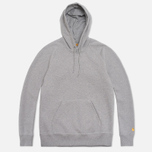 Мужская толстовка Carhartt WIP Hooded Chase Grey Heather фото- 0