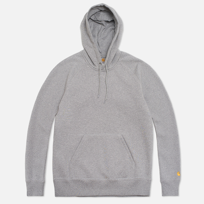 Мужская толстовка Carhartt WIP Hooded Chase Grey Heather