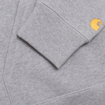 Мужская толстовка Carhartt WIP Hooded Chase Grey Heather фото- 3