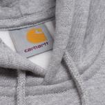 Мужская толстовка Carhartt WIP Hooded Chase Grey Heather фото- 2