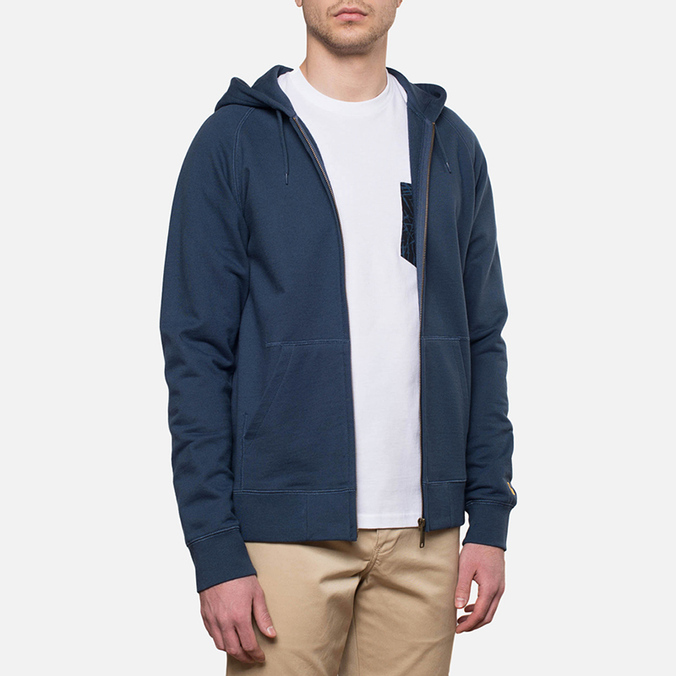 Мужская толстовка Carhartt WIP Hooded Chase Jacket Blue Penny
