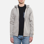 Мужская толстовка Carhartt WIP Hooded Chase Jacket Grey Heather фото- 0