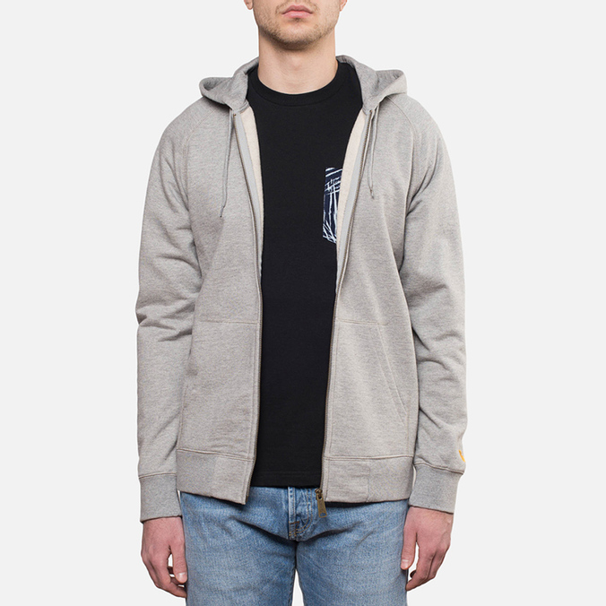 Мужская толстовка Carhartt WIP Hooded Chase Jacket Grey Heather