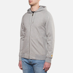 Мужская толстовка Carhartt WIP Hooded Chase Jacket Grey Heather фото- 1