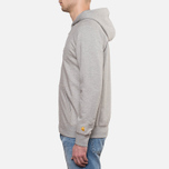 Мужская толстовка Carhartt WIP Hooded Chase Jacket Grey Heather фото- 2