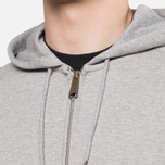 Мужская толстовка Carhartt WIP Hooded Chase Jacket Grey Heather фото- 5