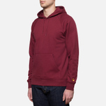 Carhartt WIP Hooded Chase Sweat Cordovan photo- 1