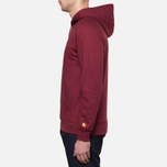 Carhartt WIP Hooded Chase Sweat Cordovan photo- 2