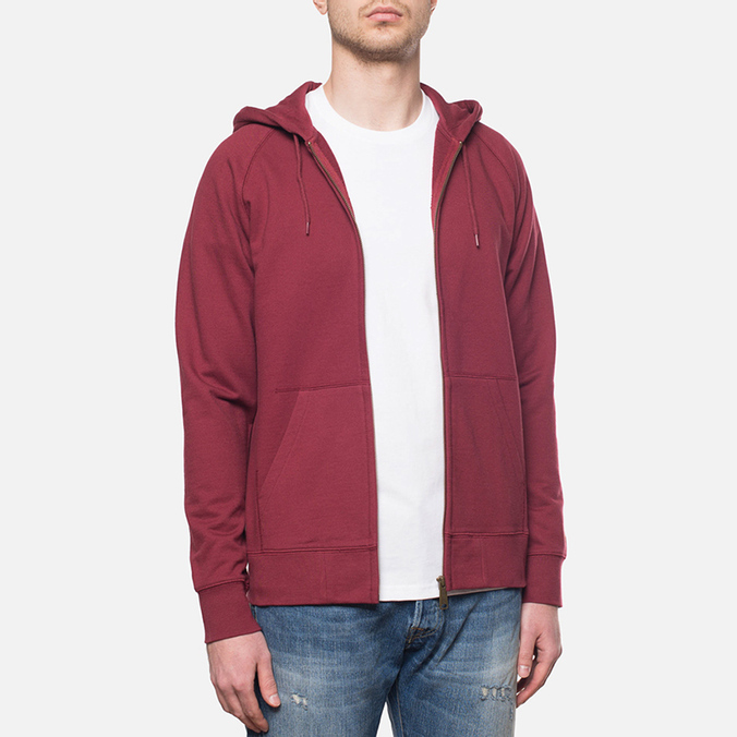 Carhartt WIP Hooded Chase Jacket Cordovan