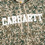 Мужская толстовка Carhartt WIP Kangaroo College Allover Camo Stain Leaf/White фото- 2