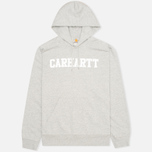 Мужская толстовка Carhartt WIP Kangaroo College Grey Heather/White фото- 0