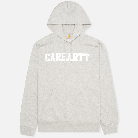 Мужская толстовка Carhartt WIP Kangaroo College Grey Heather/White