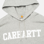Мужская толстовка Carhartt WIP Kangaroo College Grey Heather/White фото- 1