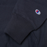 Champion Reverse Weave Basic Patch Logo Men`s Hoody Navy photo- 3