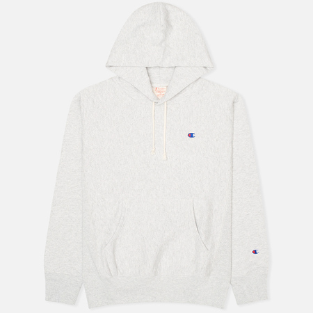 Мужская толстовка Champion Reverse Weave Basic Patch Logo Oxford Grey