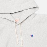 Мужская толстовка Champion Reverse Weave Basic Patch Logo Oxford Grey фото- 1
