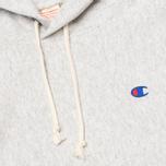 Мужская толстовка Champion Reverse Weave Basic Patch Logo Oxford Grey фото- 2