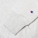 Мужская толстовка Champion Reverse Weave Basic Patch Logo Oxford Grey фото- 3