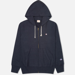 Мужская толстовка Champion Reverse Weave Basic Zip Navy фото- 0